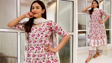 Gauahar Khan Is All Things Sweet and Graceful in a Floral Ethnic Suit!