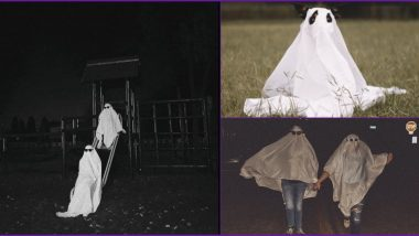 Ghost Photoshoot is Latest Social Media Trend Going Viral; People to Pets Dress Up in White Bedsheets and Pose Spookily (Check Pics and Haunted Videos)