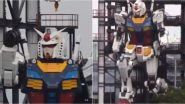 Giant Life-Size 60-Foot-Tall Gundam Robot, a Replica of RX-78-2 Made in Japan Starts Moving, Pictures And Video Go Viral