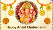 Ganesh Visarjan 2021 Wishes & Messages: Send WhatsApp Greetings, SMS, HD Images, Wallpapers and Quotes to Your Loved Ones on Anant Chaturdashi