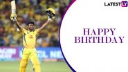 Ambati Rayudu Birthday Special: 100 vs SRH & Other Best Knocks by the CSK Star in IPL