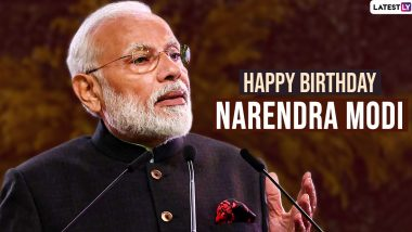 Narendra Modi Birthday Wishes And Greetings: Wish Indian Prime Minister With These HD Images On His 70th Birthday