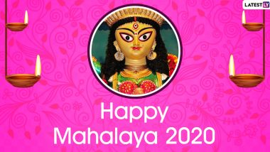 Subho Mahalaya 2020 Wishes: WhatsApp Stickers, Facebook Greetings, GIF Images, Instagram Stories, Messages and SMS to Send on The Occasion