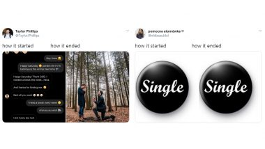 'How it Started vs How it Ended' is The New Couple Challenge Trend That Has Partners Sharing Their Love Stories, Singles' Resort to Funny Memes and Jokes!