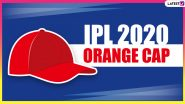 IPL 2020 Orange Cap Holder List Updated: KL Rahul, Shikhar Dhawan Hold Top Two Positions, David Warner Pips Virat Kohli on Third Place; Check Full Leaderboard of Leading Run-Scorers