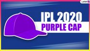 IPL 2020 Purple Cap Holder List Updated: Kagiso Rabada of DC Leads Winners' Table, Check Leading Wicket-Takers in Dream11 Indian Premier League Season 13 in UAE