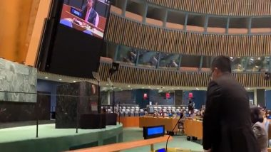 UNGA 75th Session: Indian Delegate Stages Walk-Out As Pakistan PM Imran Khan Begins His Speech (Watch Video)