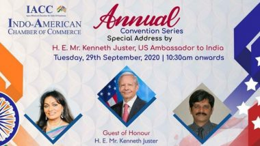 Annual Convention Series 2020: Indo-American Chamber of Commerce to Hold Two Webinars Today, US Envoy Kenneth Juster to Deliver Special Address; Check How to Attend