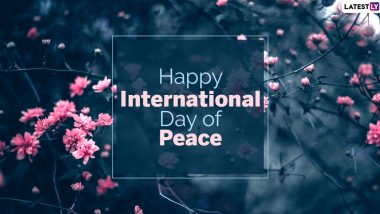 International Day of Peace 2020 Images & HD Wallpapers for Free Download Online: Wish Happy Peace Day With WhatsApp Stickers and GIF Greetings