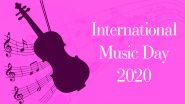 International Music Day 2020 Date and Significance: Know The History and Celebrations of the Day That Aims to Promote Global Harmony Through Music