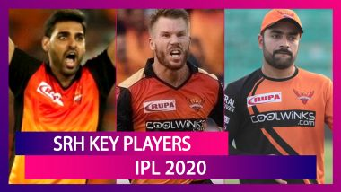 David Warner, Rashid Khan, Manish Pandey and Other Key Players for Team SRH in IPL 2020