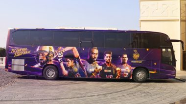 KKR Unveils New Team Bus Ahead of IPL 2020, Says 'Our New Wheels Have Arrived' (See Pic)