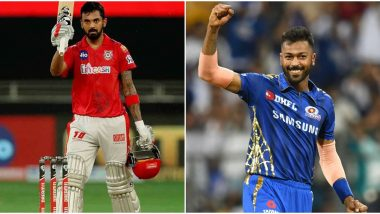 KL Rahul Reacts to KXIP's 97-Run Win Over RCB in IPL 2020 Match; Hardik Panyda Replies With Cheeky Comment (See Post)
