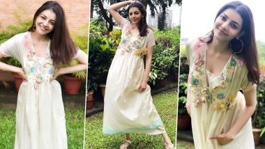 Kajal Aggarwal Is Abloom Chic All While Celebrating Small Joys and Little Pleasures of Life!