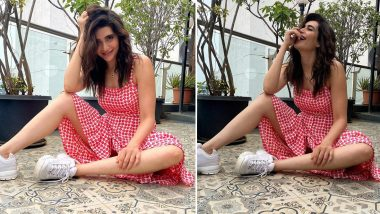 Karishma Tanna Is Having a Fun Day With Prints, Kicks and Wavy Hair!