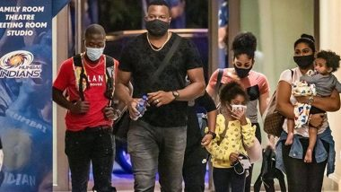 IPL 2020 Players' Update: CPL Winner Kieron Pollard Arrives in UAE to Join Mumbai Indians Squad (View Pic)