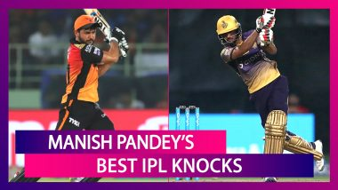 Manish Pandey Birthday Special: Best Knocks By Sunrisers Hyderabad Batsman In IPL