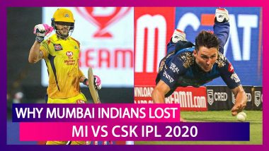 Mumbai vs Chennai IPL 2020: 4 Reasons Why Mumbai Lost to Chennai