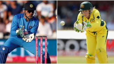 MS Dhoni's Record Broken! Alyssa Healy, Australia Women's Team Wicket-Keeper, Overtakes Former India Captain to Become Keeper With Most Dismissals in T20Is