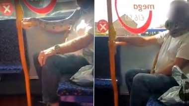 Hissssssterical! Man Spotted Wearing Snake Instead of Facemask on Bus in Salford, Video of Python Around Man's Neck Goes Viral