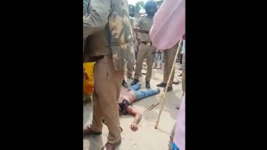 UP Shocker: Murder Accused Lynched by Angry Mob in Kushinagar, Video Goes Viral