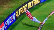 Nicholas Pooran Arguably Pulls Off Best Fielding Effort in IPL History! West Indies Cricketer Defies Gravity to Save a Six During RR vs KXIP IPL 2020 (Watch Video)