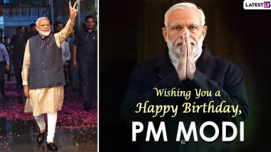 Narendra Modi Birthday Wishes, Quotes & Images: Wish PM With Greetings, GIFs, Photos and Facebook Messages on as He Turns 70