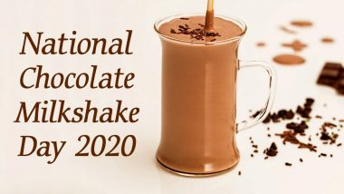 National Chocolate Milkshake Day 2020: Easy Step-by-Step Recipe to Make The Chilled Creamy Beverage at Home (Watch Video)