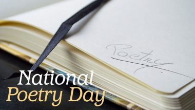 National Poetry Day 2020 in UK Date and Theme: Know Significance and Celebrations of The Day Encouraging Literary Medium of Poems