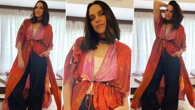 Neha Dhupia Is Giving Her Basic White Top – Blue Denim a Bohemian Chic Twist With This Lust-Worthy Shrug!