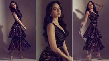 Nora Fatehi Has That Shimmy Shimmy Ya Vibe Going With This Twirly Self Portrait Dress!