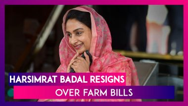 Harsimrat Badal Resigns As Farm Bills Clear Lok Sabha; PM Modi Says, 'Forces Trying To Mislead Farmers, Agriculture Reform Bills Will Lead To Increased Profits'
