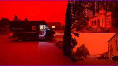 Massive Oregon Fires Leave Skies Looking Dangerously Red, Viral Pics and Videos Has People Saying 'End of The World' is Here!
