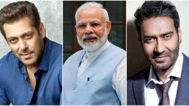 PM Narendra Modi 70th Birthday: Salman Khan, Ajay Devgn Send Warm Wishes to the Indian Prime Minister (View Tweets)