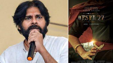 PSPK27: Power Star Pawan Kalyan Teams Up With Director Krish Jagarlamudi for His Next (View Poster)