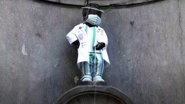 Belgium's Famous 'Peeing Little Boy' Statue Honours Medical Workers, Manneken-Pis Gets a Makeover With Doctor's Attire and Facemask Amid Coronavirus Pandemic (Watch Video)