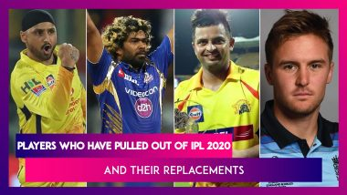 Suresh Raina, Harbhajan Singh & Other Players Who Have Opted Out of IPL 2020  and Their Replacements