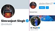 Who Are Simranjeet Singh, Paritosh Pant and Dr Nayak? Know About The COVID-19 Heroes After Whom Virat Kohli, AB de Villiers and Yuzvendra Chahal Have Set Their Profile Names on Social Media