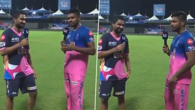 Sanju Samson Reveals Story Behind Rahul Tewatia's Promotion in Batting Order During RR vs KXIP Match in Dream11 IPL 2020 (Watch Video)