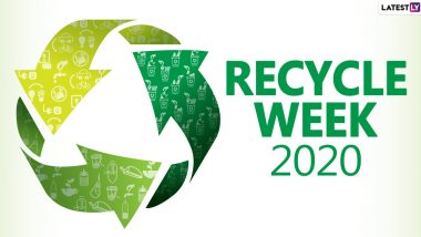 Recycle Week 2020 Date and Theme: Know the Significance of the Observance That Inspires Citizens to Recycle Things