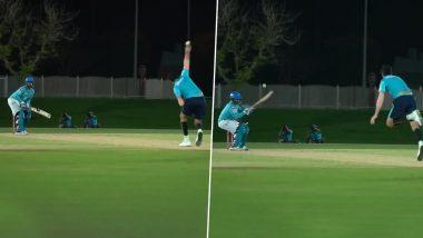 IPL 2020: Delhi Capitals Star Rishabh Pant Plays Brilliant Reverse Ramp Shot Off Ishant Sharma During Practice Session (Watch Video)
