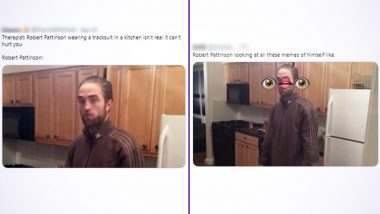 Robert Pattinson in Tracksuit Photo Gives Rise to Meme-Fest Online, Netizens Make Funniest Jokes on Funny Meme Template of The Actor Standing in a Kitchen