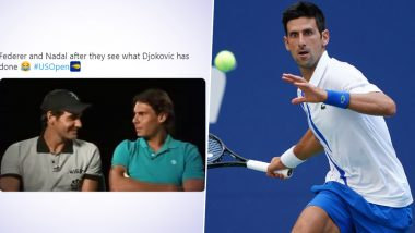 Roger Federer Rafael Nadal Funny Memes Go Viral As Novak Djokovic Gets Disqualified From Us Open 2020 For Hitting Lineswoman See Reactions Latestly