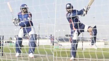 Rohit Sharma Sweats It Out in Nets Ahead of KKR vs MI Match in Dream11 IPL 2020 (Watch Video)