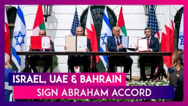 Abraham Accord Signed: Israel, UAE & Bahrain Sign Peace Agreement At The White House; Host Donald Trump Says, 'Dawn Of A New Middle East'