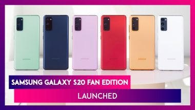 Samsung Galaxy S20 Fan Edition with 4,500mAh Battery Launched at $699; Prices, Variants, Features & Specifications