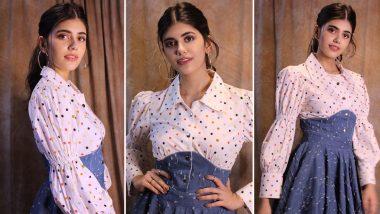 Sanjana Sanghi Is Sunshine Girl in Polka Dots and Denim Dress!