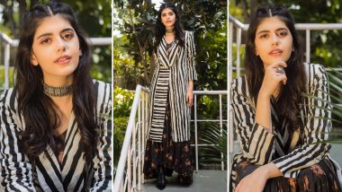 Sanjana Sanghi Is Abloom and Striped Sassiness Galore All at Once for Dil Bechara Promotions!