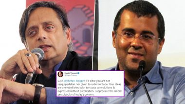 Shashi Tharoor Fulfills Chetan Bhagat's Demand, Praises Him With 'Long' Words! From Sesquipedalian to Perspicacity Know The Meaning of These Words And Tweet