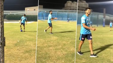 IPL 2020 Players' Update: Delhi Capitals Skipper Shreyas Iyer Showcases His Brilliant Football Skills During Practice Session (Watch Video)
